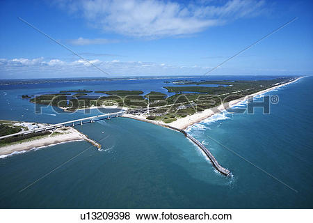 Pictures of Aerial view of Indian River Lagoon Scenic Highway on.