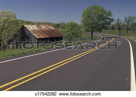 Stock Photo of road, AR, Arkansas, Ozark Mountains, Scenic Highway.