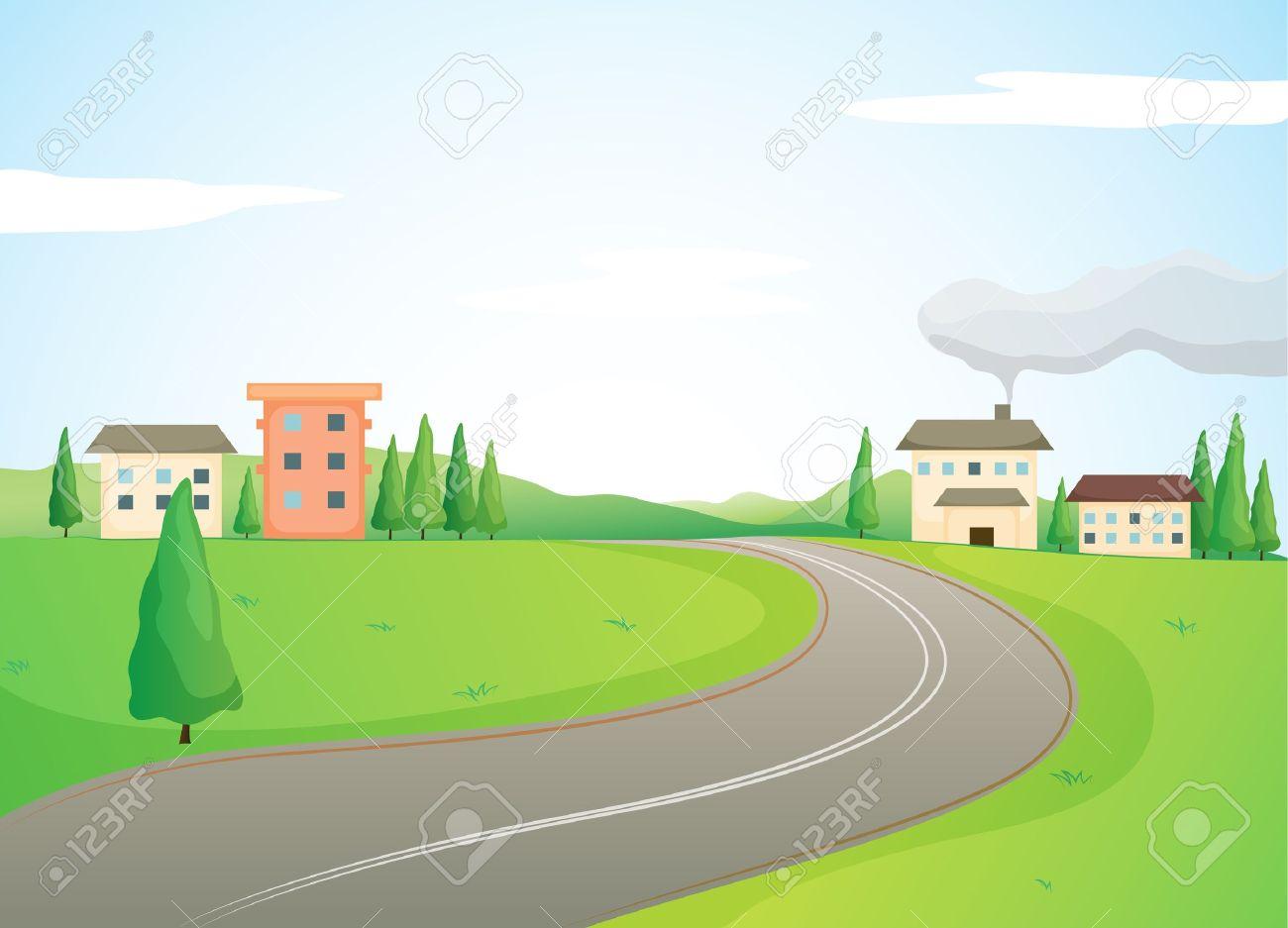 Nature road clipart.