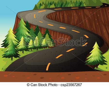 Scenic road Clip Art and Stock Illustrations. 1,894 Scenic road.