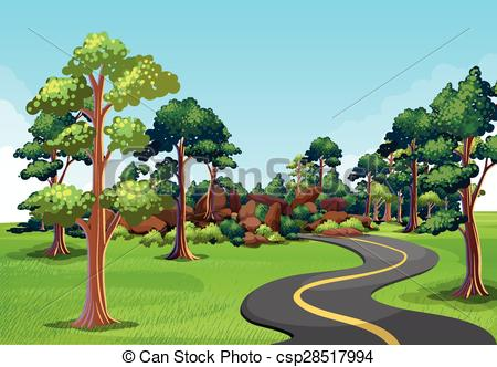 Scenery clipart road.