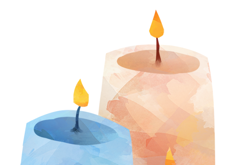 Watercolor Candles Clipart By Digitalartsi.