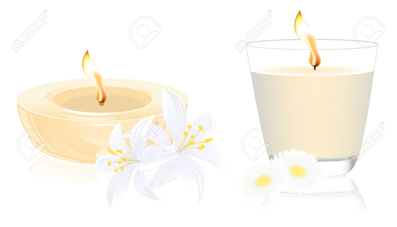 Scented Candle Clip Art.