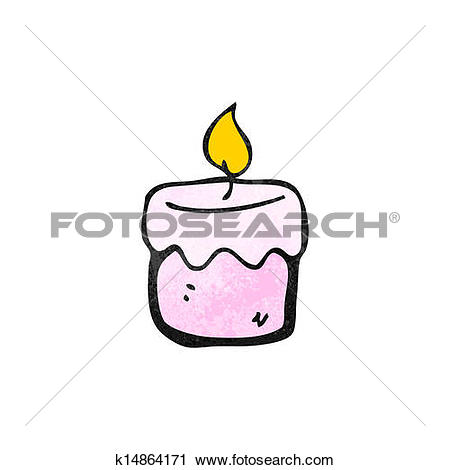 Clipart of cartoon scented candle k14864171.