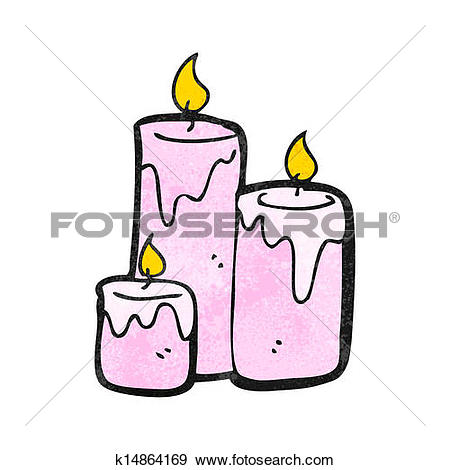 Clip Art of cartoon scented candles k14864169.