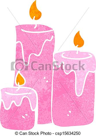 Clip Art Vector of cartoon scented candles csp14864169.