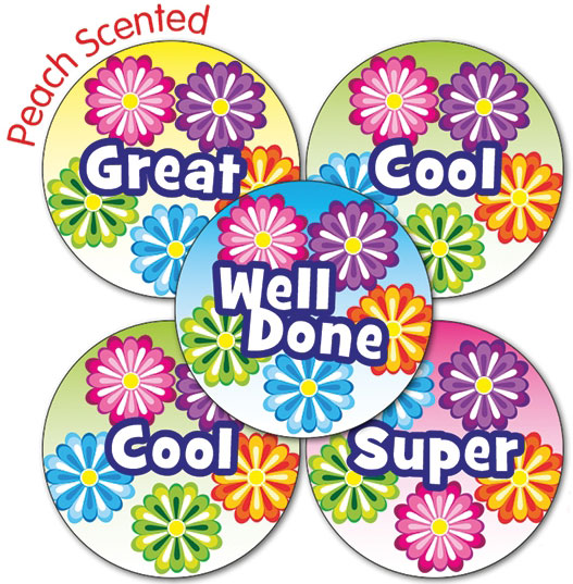 Peach Stickers Grapefruit Scented Mixed.