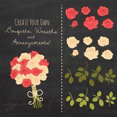 CLIP ART: Romantic Rose // Photoshop Brushes ABR // Hand Drawn.