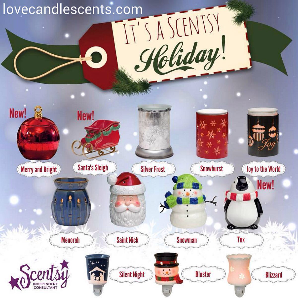 It's a Scentsy Holiday at Love Candle Scents! Which one is YOUR.
