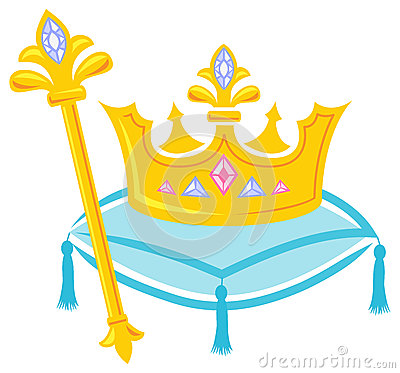 Crown and scepter clipart.