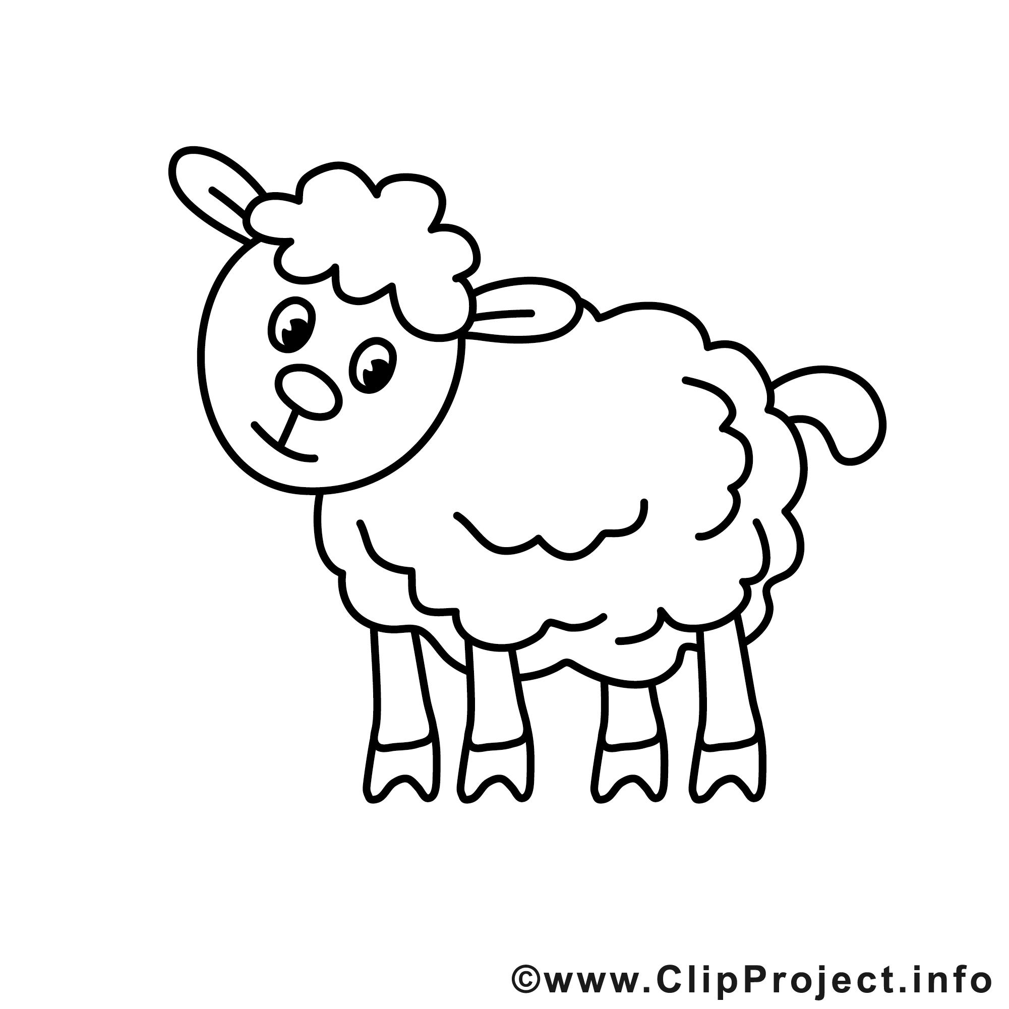 Schaf Bild zum Ausmalen, Malvorlage.