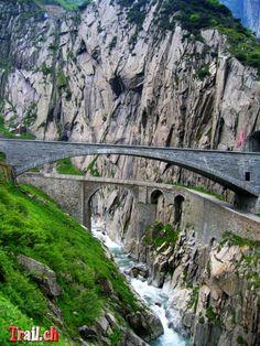 The world's scariest bridges.