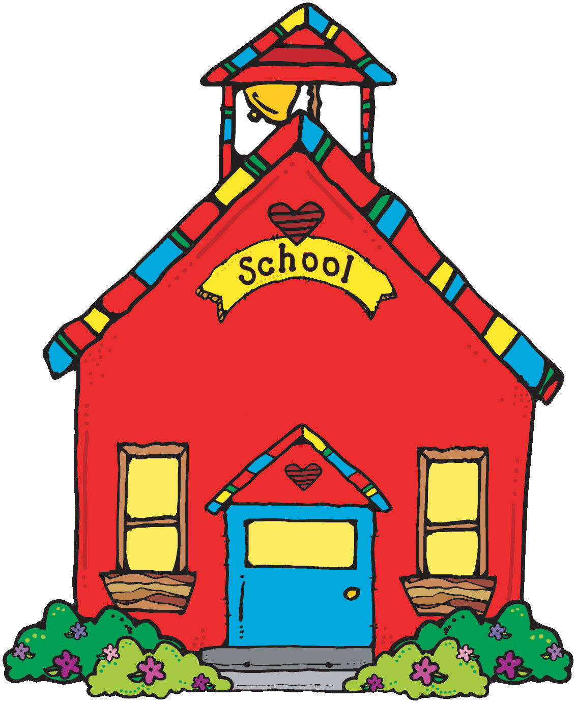 Cute school clip art.
