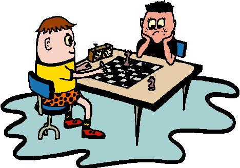 Schach spielen Cliparts.