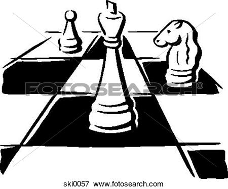 Stock Illustration of Chess pieces sha0015.