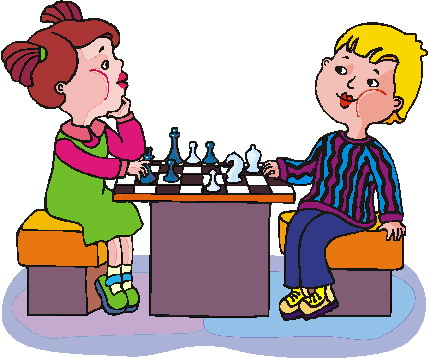Playing chess Clip Art.