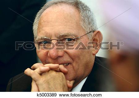 Stock Photograph of Wolfgang Schaeuble Minister BRD k5003389.