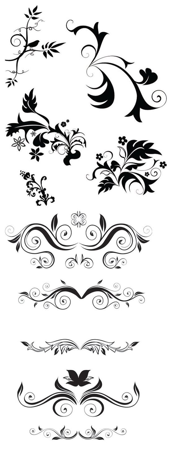 Ornaments, Design and Silhouette on Pinterest.