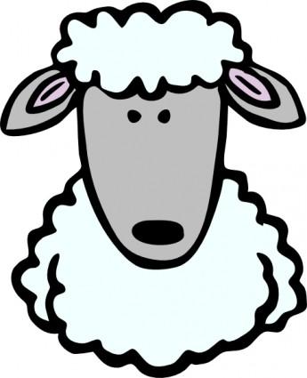 Sheep Head Clip Art.
