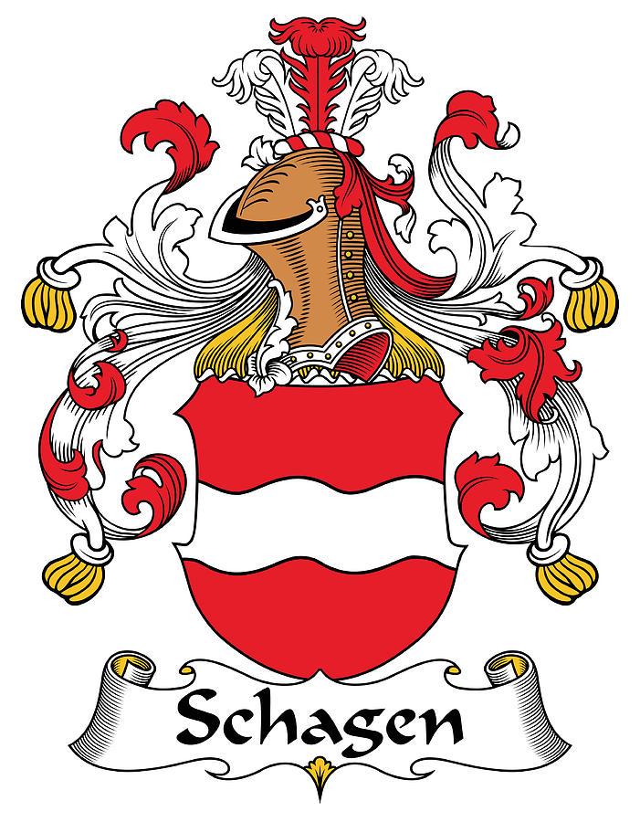 Schagen Coat Of Arms German Digital Art by Heraldry.