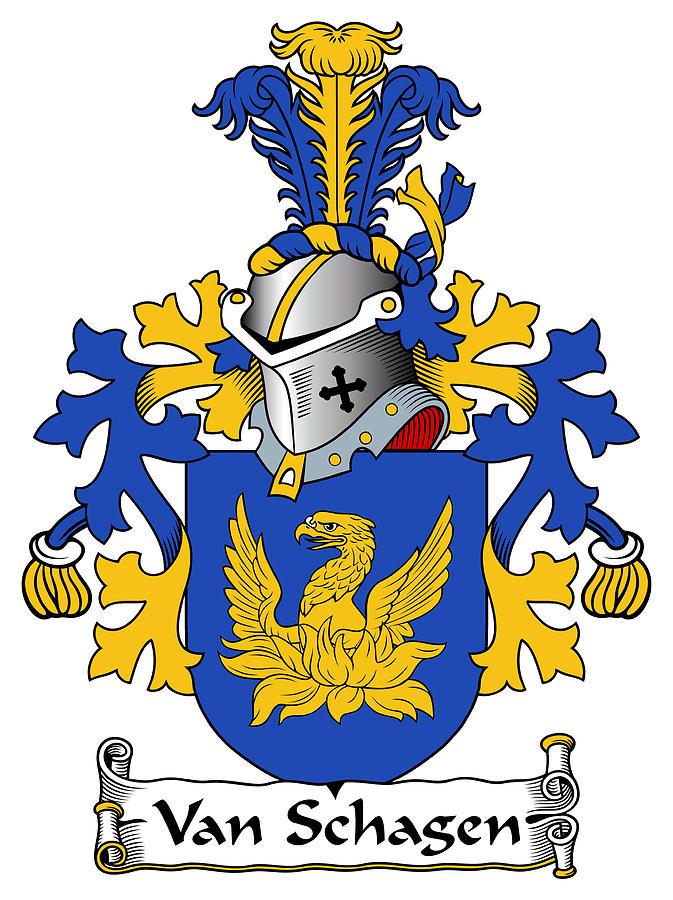 Van Schagen Coat Of Arms Dutch Digital Art by Heraldry.