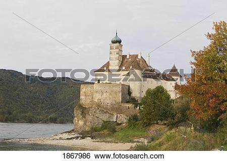 Stock Images of schallaburg castle, danube river, austria 1867986.