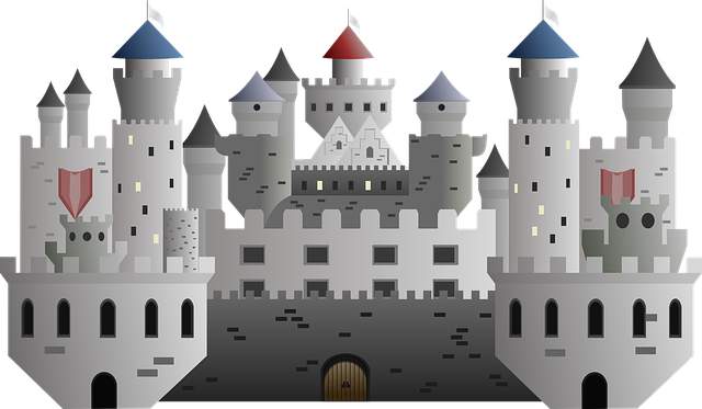 Free illustration: Castle, Drawing, Cartoon, Torres.