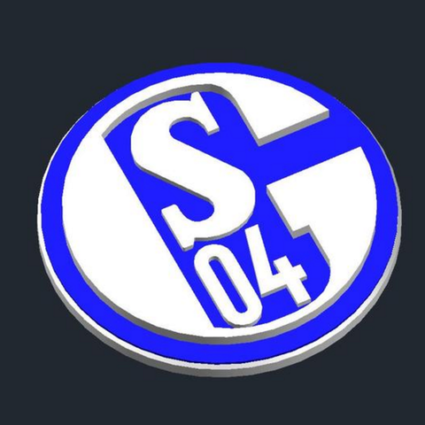Download free 3D printing files FC Schalke 04.
