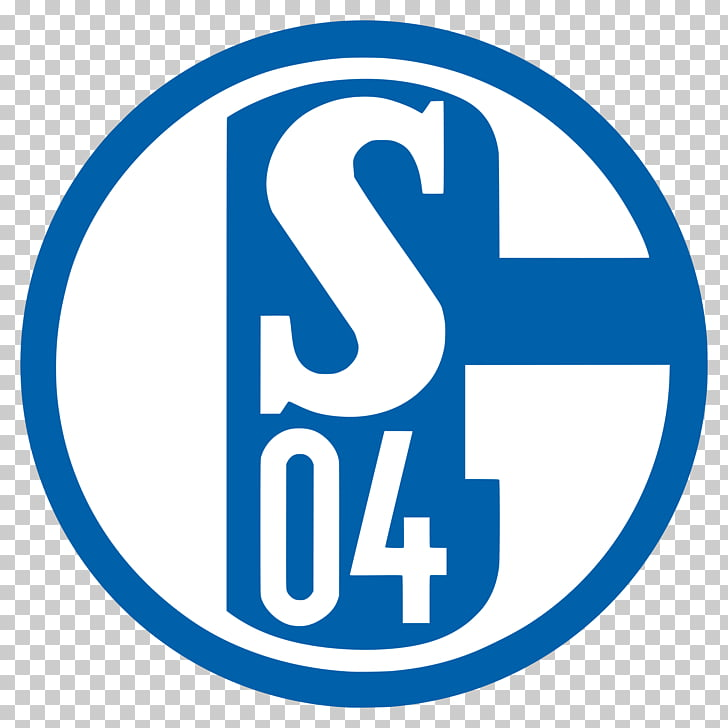 Schalke Logo, white and blue S04 logo PNG clipart.
