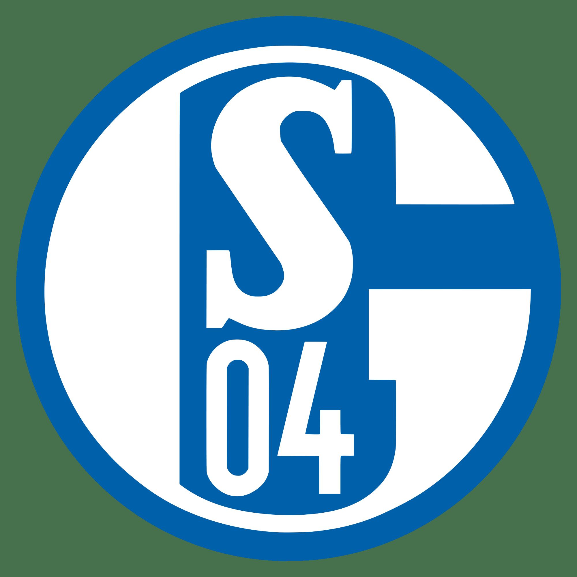 Schalke Logo transparent PNG.