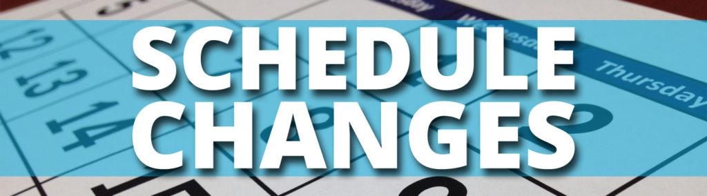 Schedule Change Request Form.