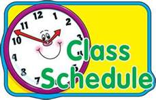 Class Timetable Clipart.