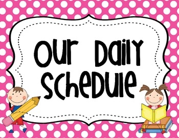 Classroom Picture Schedule Clipart.