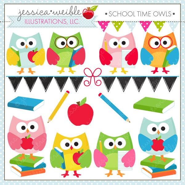 School owl clipart.