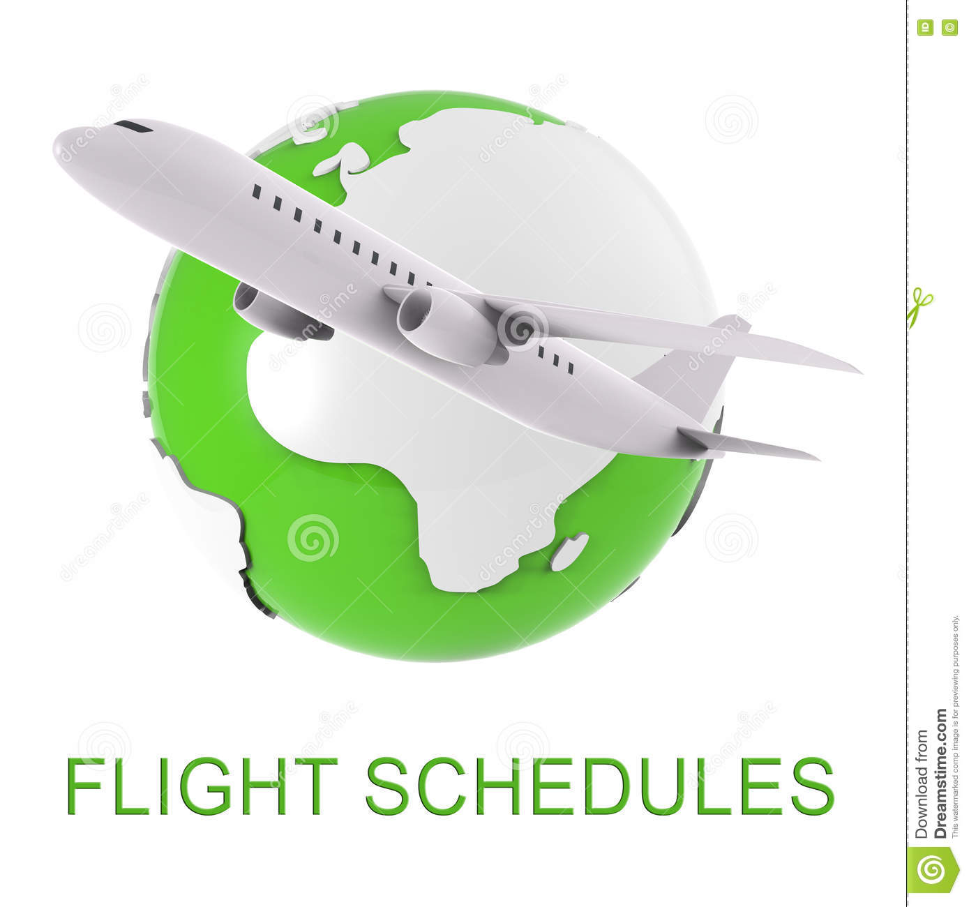 Flight Schedules Indicates Scheduled Airplane And Appointments 3d.