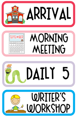 Daily Schedule Clipart.