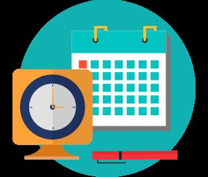 Organized clipart scheduling, Organized scheduling.