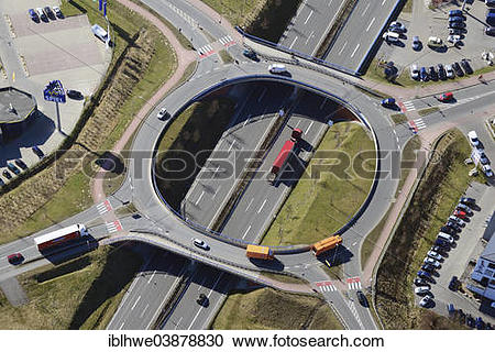 "Stock Photography of ""Aerial view, Dreikaisereichen roundabout."