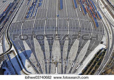 "Stock Photo of ""Tracks of Maschen Marshalling Yard, Maschen, Lower."