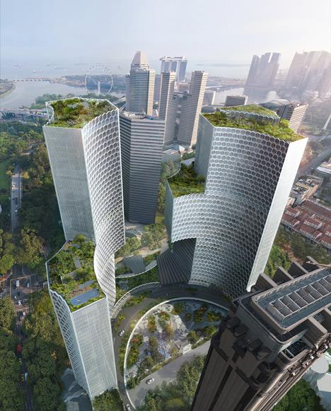 Ole Scheeren unveils DUO skyscrapers for Singapore.