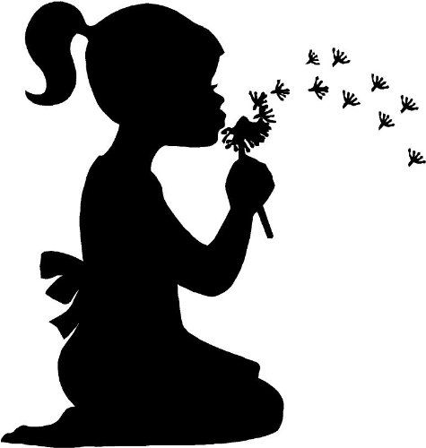 clipart little girl sitting with umbrella silhouette #19