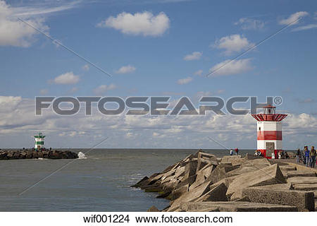 Stock Photo of Netherlands, The Hague, Scheveningen, port entrance.