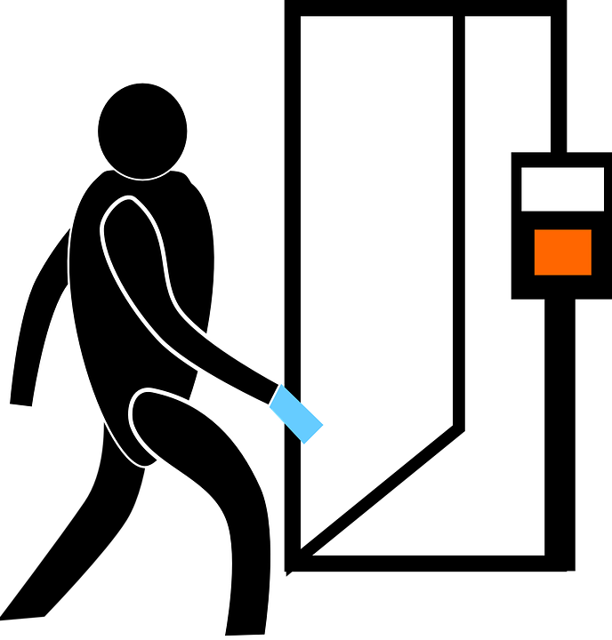 Free vector graphic: Door, Entry, Man, Elevator.