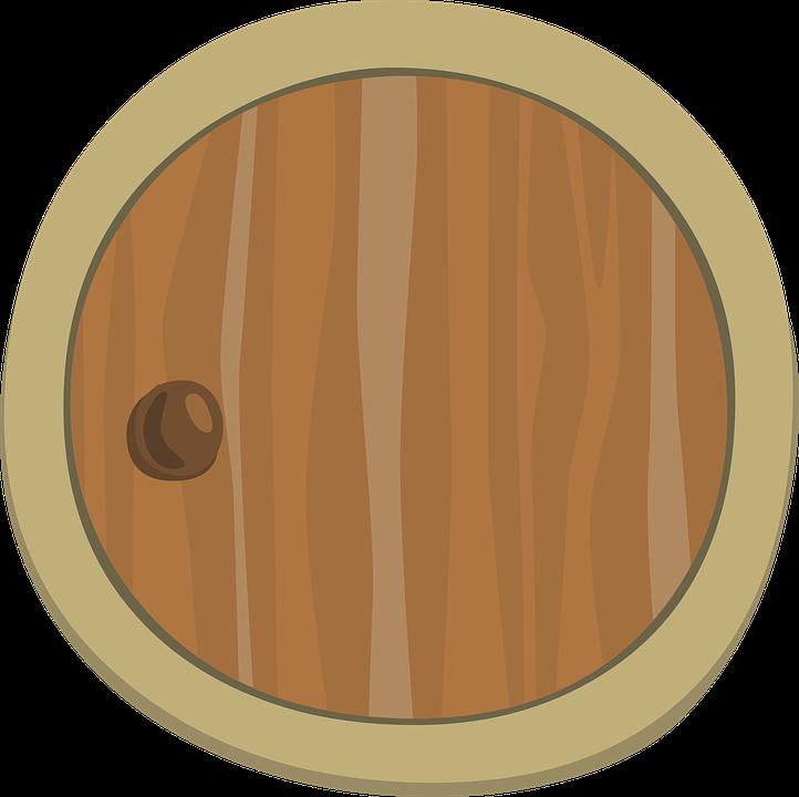 Kostenlose Vektorgrafik: Tür, Holz, Runde, Kreis, Kugel.