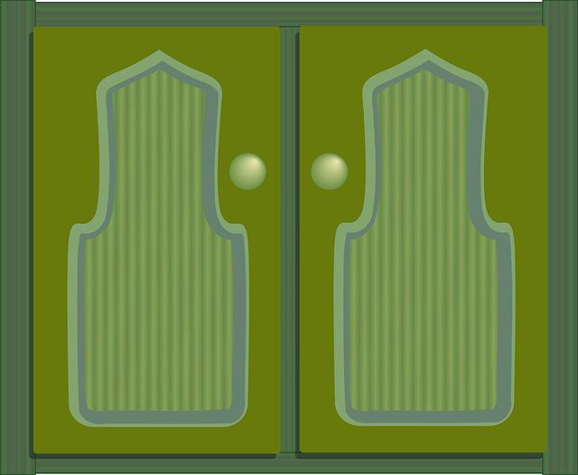Free vector graphic: Cabinet Doors, Cupboard Doors.