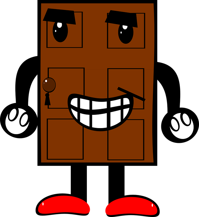 Free vector graphic: Door, Creature, Cartoon, Legs, Arms.
