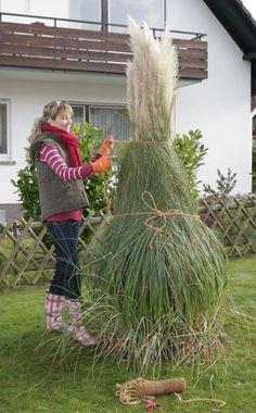 Gartengestaltung mit Trockenmauern.