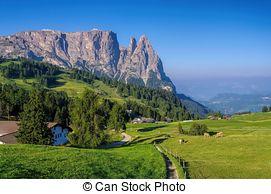 Stock Fotografie von berg, schlern, Dolomiten.