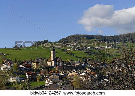 Picture of Village of Seis am Schlern or Siusi allo Sciliar, South.