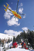 """Stock Image of """"ADAC helicopter during a mountain rescue."""